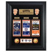 MLB San Francisco Giants World Series Deluxe Gold Coin & Ticket Collection Photo Mint