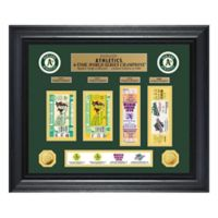 MLB Oakland Athletics World Series Deluxe Gold Coin & Ticket Collection Photo Mint