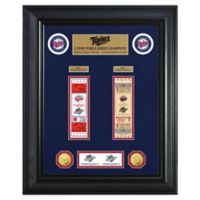 MLB Minnesota Twins World Series Deluxe Gold Coin & Ticket Collection Photo Mint