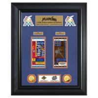 MLB Florida Marlins World Series Deluxe Gold Coin & Ticket Collection Photo Mint