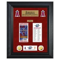 MLB Los Angeles Angels World Series Deluxe Gold Coin & Ticket Collection Photo Mint