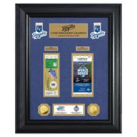 MLB Kansas City Royals World Series Deluxe Gold Coin & Ticket Collection Photo Mint
