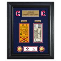 MLB Cleveland Indians World Series Deluxe Gold Coin & Ticket Collection Photo Mint
