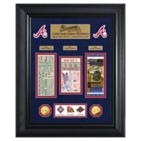 MLB Atlanta Braves World Series Deluxe Gold Coin & Ticket Collection Photo Mint