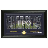 "NFL Los Angeles Chargers ""Silhouette"" Bronze Coin Panoramic Photo Mint"