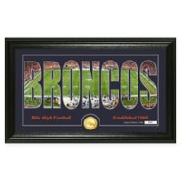 "NFL Denver Broncos ""Silhouette"" Bronze Coin Panoramic Photo Mint"
