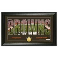 "NFL Cleveland Browns ""Silhouette"" Bronze Coin Panoramic Photo Mint"