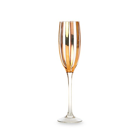 CRU by Darbie Angell Monaco Gold Stripe 6.7-Ounce Champagne Flute