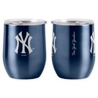 MLB New York Yankees 16 oz. Stainless Steel Curved Ultra Tumbler Wine Glass