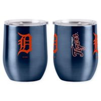 MLB Detroit Tigers 16 oz. Stainless Steel Curved Ultra Tumbler Wine Glass