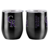 MLB Colorado Rockies 16 oz. Stainless Steel Curved Ultra Tumbler Wine Glass