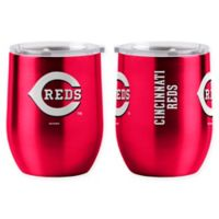 MLB Cincinnati Reds 16 oz. Stainless Steel Curved Ultra Tumbler Wine Glass