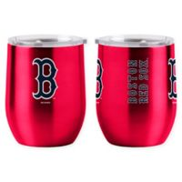 MLB Boston Red Sox 16 oz. Stainless Steel Curved Ultra Tumbler Wine Glass