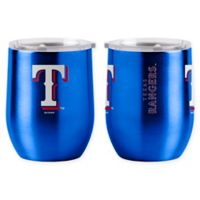 MLB Texas Rangers 16 oz. Stainless Steel Curved Ultra Tumbler Wine Glass
