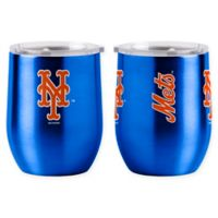 MLB New York Mets 16 oz. Stainless Steel Curved Ultra Tumbler Wine Glass