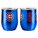 MLB Chicago Cubs 16 oz. Stainless Steel Curved Ultra Tumbler Wine Glass