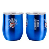 NBA Oklahoma Thunder16 oz. Stainless Steel Curved Ultra Tumbler Wine Glass