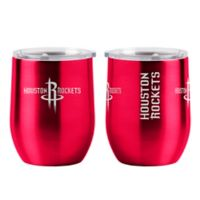 NBA Houston Rockets 16 oz. Stainless Steel Curved Ultra Tumbler Wine Glass