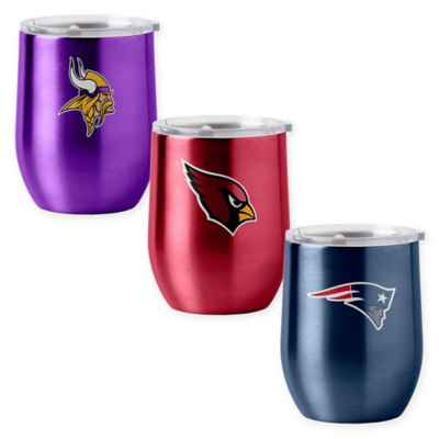 NFL 16 oz. Stainless Steel Curved Ultra Tumbler Wine Glass