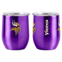NFL Minnesota Vikings 16 oz. Stainless Steel Curved Ultra Tumbler Wine Glass