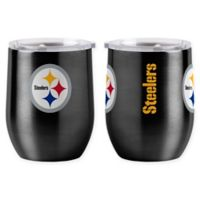 NFL Pittsburgh Steelers 16 oz. Stainless Steel Curved Ultra Tumbler Wine Glass