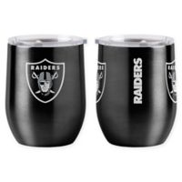 NFL Oakland Raiders 16 oz. Stainless Steel Curved Ultra Tumbler Wine Glass