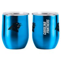 NFL Carolina Panthers 16 oz. Stainless Steel Curved Ultra Tumbler Wine Glass