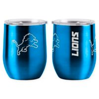 NFL Detroit Lions 16 oz. Stainless Steel Curved Ultra Tumbler Wine Glass