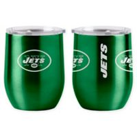 NFL New York Jets 16 oz. Stainless Steel Curved Ultra Tumbler Wine Glass