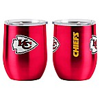 NFL Kansas City Chiefs 16 oz. Stainless Steel Curved Ultra Tumbler Wine Glass