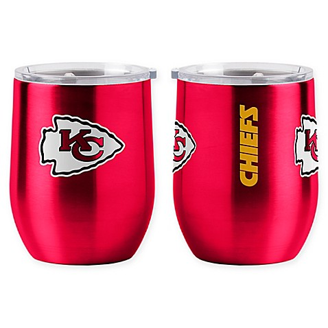 Nfl Kansas City Chiefs 16 Oz Stainless Steel Curved Ultra