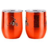 NFL Cleveland Browns 16 oz. Stainless Steel Curved Ultra Tumbler Wine Glass