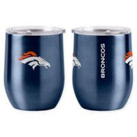 NFL Denver Broncos 16 oz. Stainless Steel Curved Ultra Tumbler Wine Glass