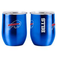 NFL Buffalo Bills 16 oz. Stainless Steel Curved Ultra Tumbler Wine Glass