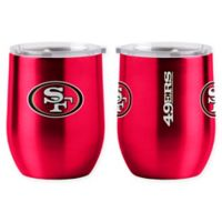 NFL San Francisco 49ers 16 oz. Stainless Steel Curved Ultra Tumbler Wine Glass