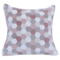 Berkshire Blanket® Honeycomb PrimaLush Square Throw Pillow in Taupe