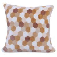 Berkshire Blanket® Honeycomb PrimaLush Square Throw Pillow in Tan