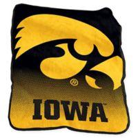 University of Iowa Raschel Throw Blanket
