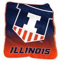 University of Illinois Raschel Throw Blanket