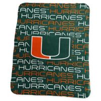 University of Miami Classic Fleece Throw