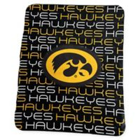 University of Iowa Classic Fleece Throw