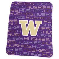 University of Washington Classic Fleece Throw