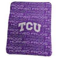 Texas Christian University Classic Fleece Throw