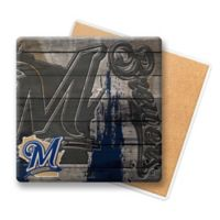 MLB Milwaukee Brewers Wooden Coasters (Set of 6)
