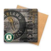 MLB Oakland Athletics Wooden Coasters (Set of 6)