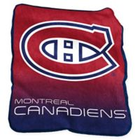 NHL Montreal Canadiens Raschel Throw Blanket