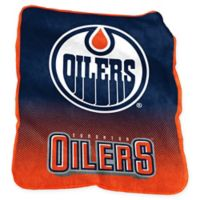 NHL Edmonton Oilers Raschel Throw Blanket