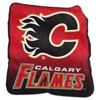 NHL Calgary Flames Raschel Throw Blanket