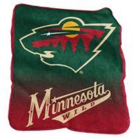 NHL Minnesota Wild Raschel Throw Blanket