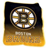 NHL Boston Bruins Raschel Throw Blanket